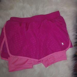 Danskin Now Pink Double Workout Shorts Sz XS